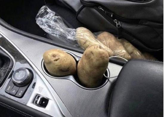 Czerpie energię z ziemniaka :)