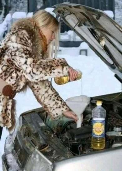 Kochanie, dolałam oleju.....